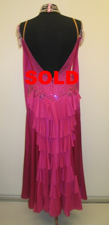 Passion Pink Ballroom Dress
