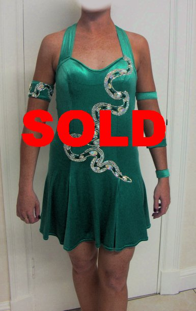 Emerald Latin Dress